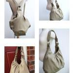Large leather bag 3 way convertible..